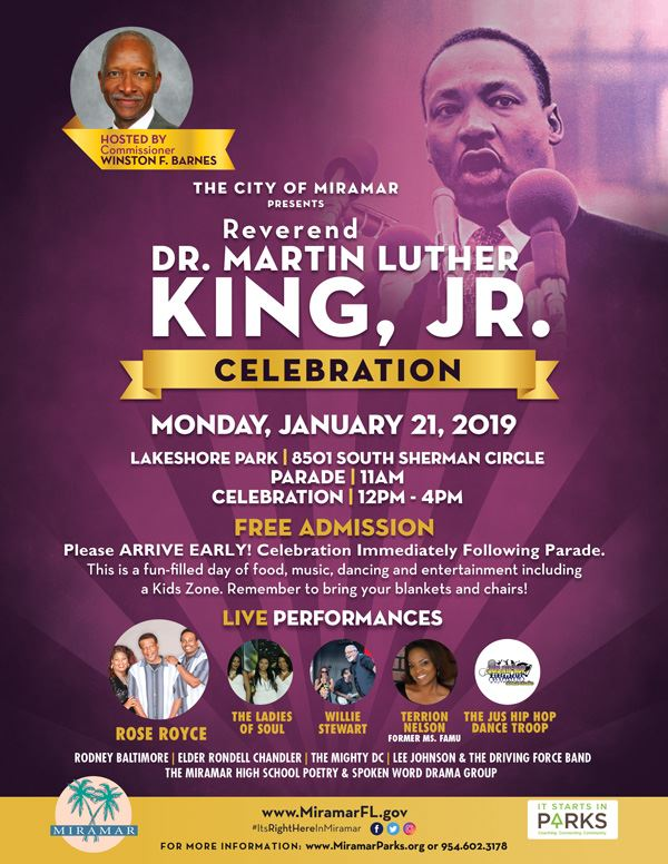 MLK Day  Celebration Flyer
