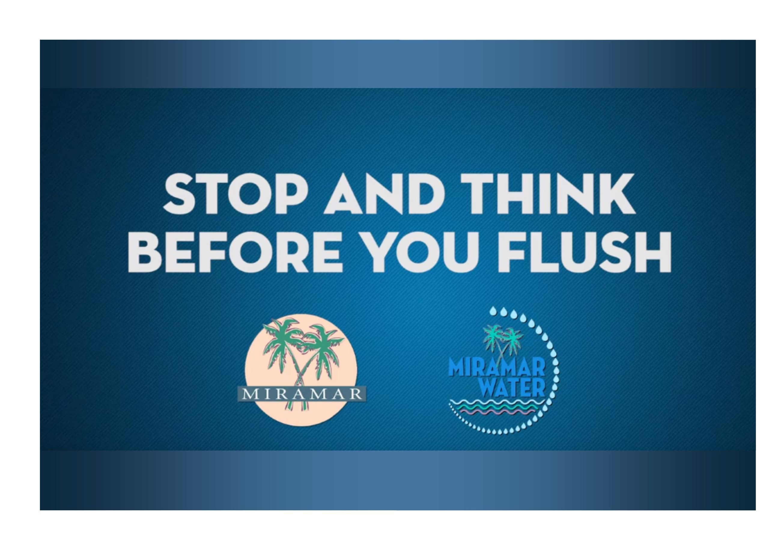 Stop and Think before you Flush