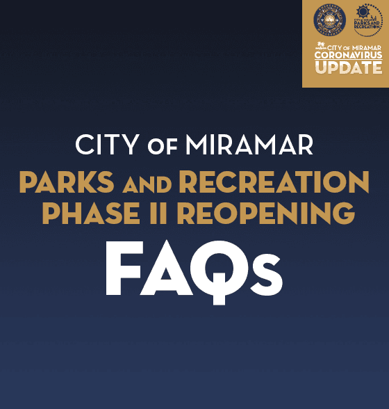 Parks and Recreation Phase II Re-Opening FAQs