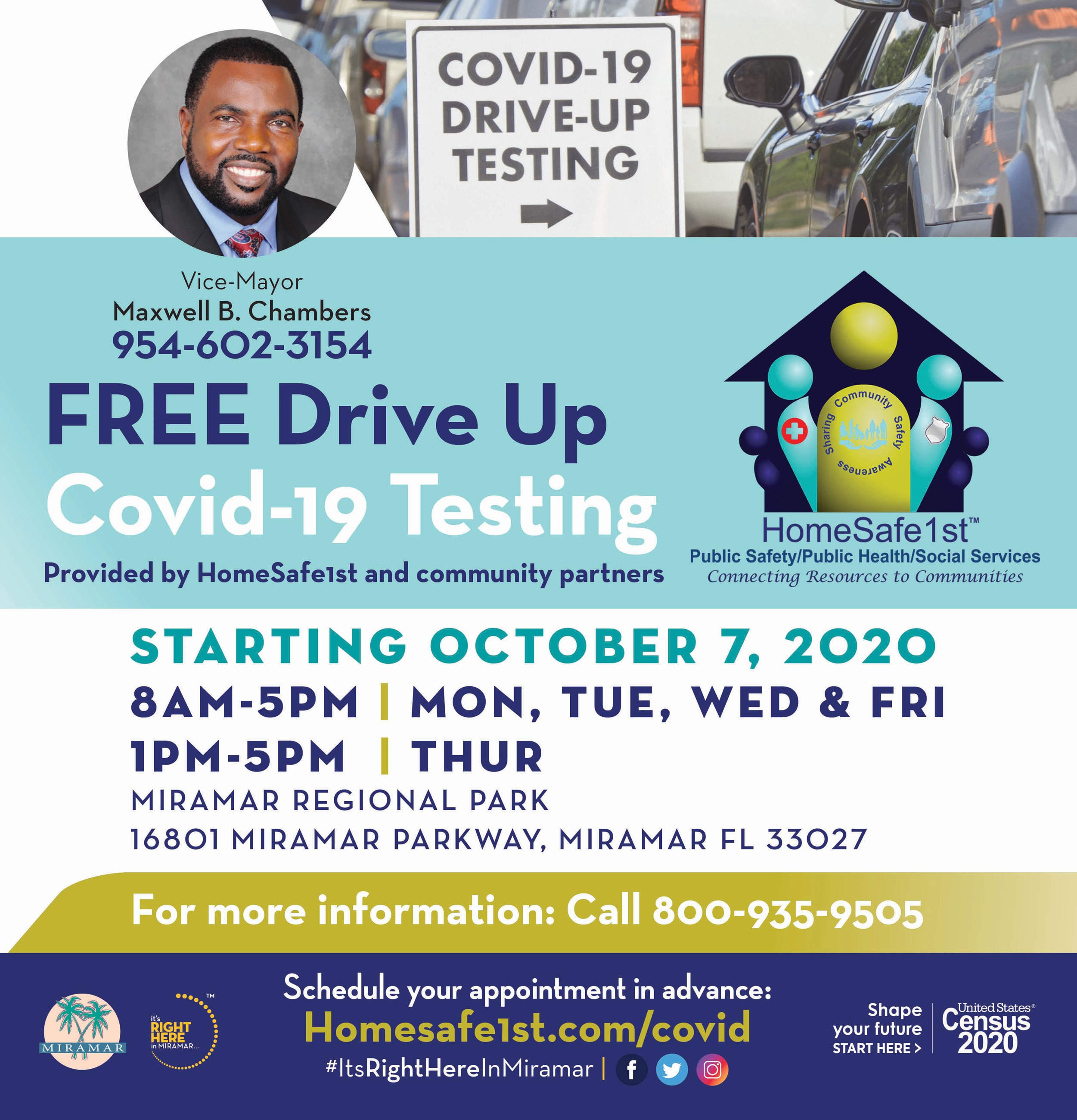 Free Drive Up Covid-19 Testing at Regional Park - Home Page Banner