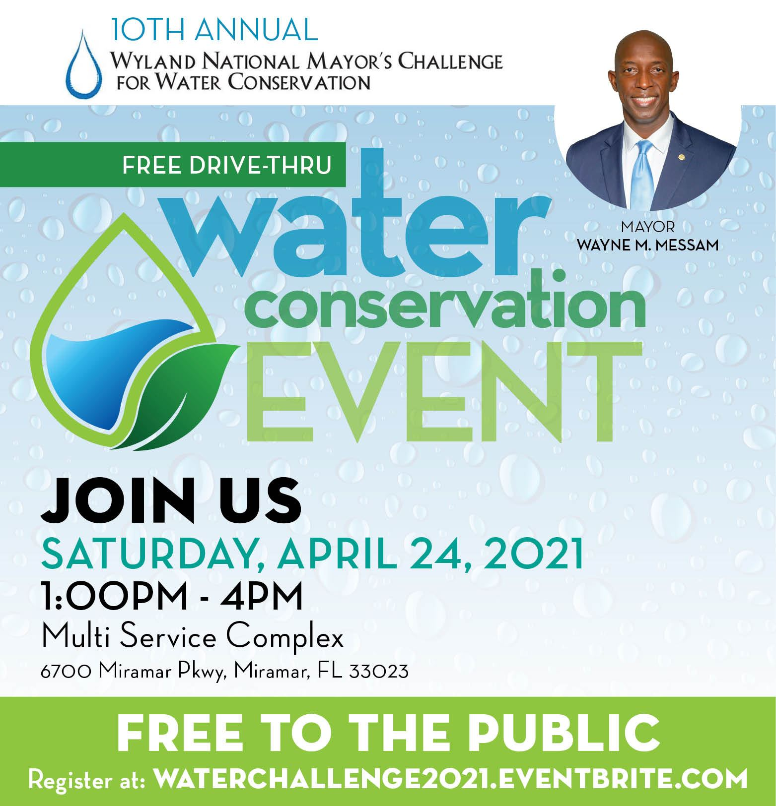 Mayor Messam Annual Water Challenge Drive-Thru Event April 24 2021 - banner