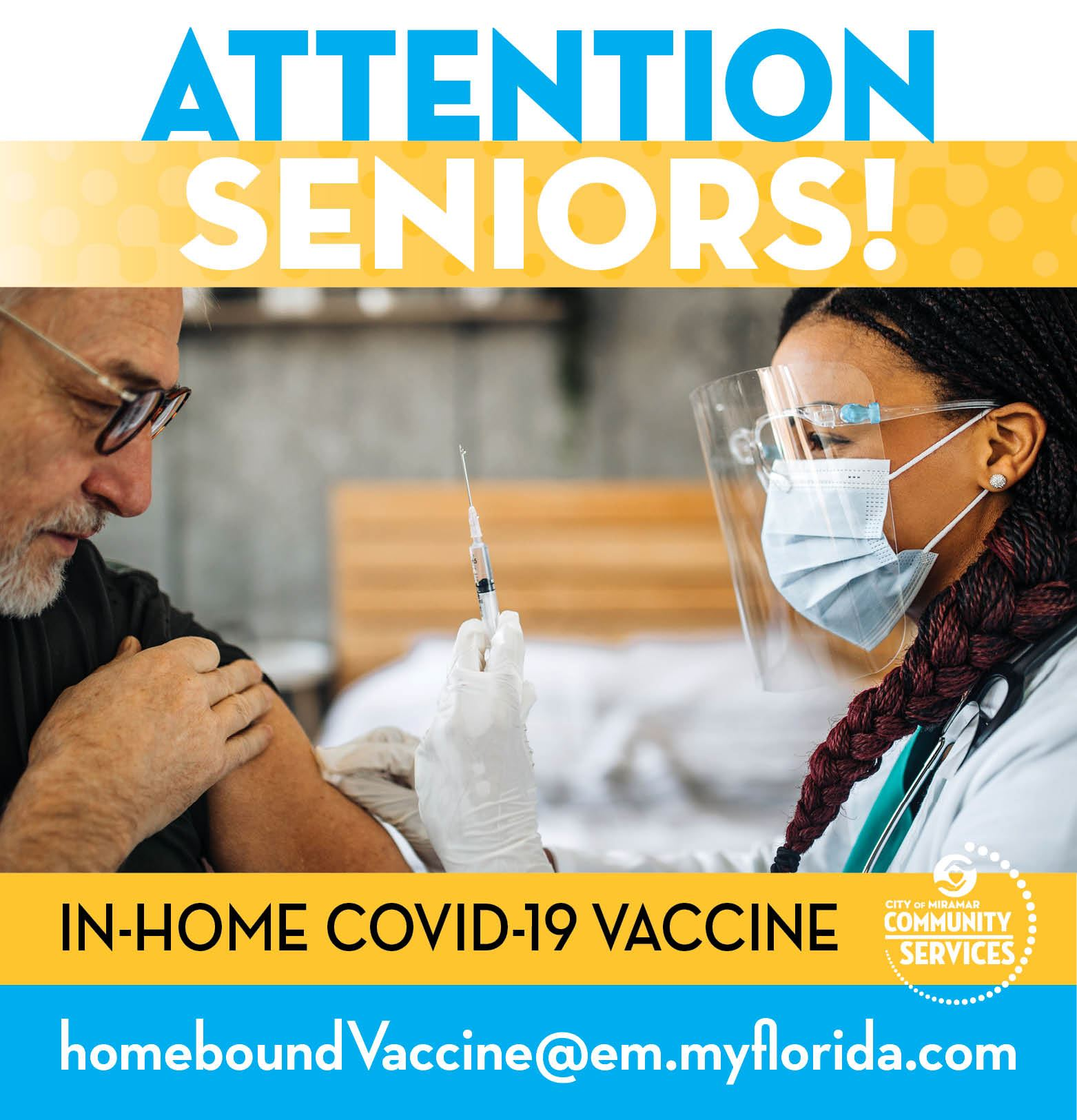 Covid-19 Seniors In-Home Vaccine - banner