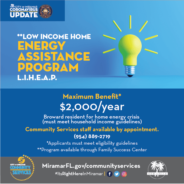 LIHEAP - Low Income House Energy Assistance Program Flyer
