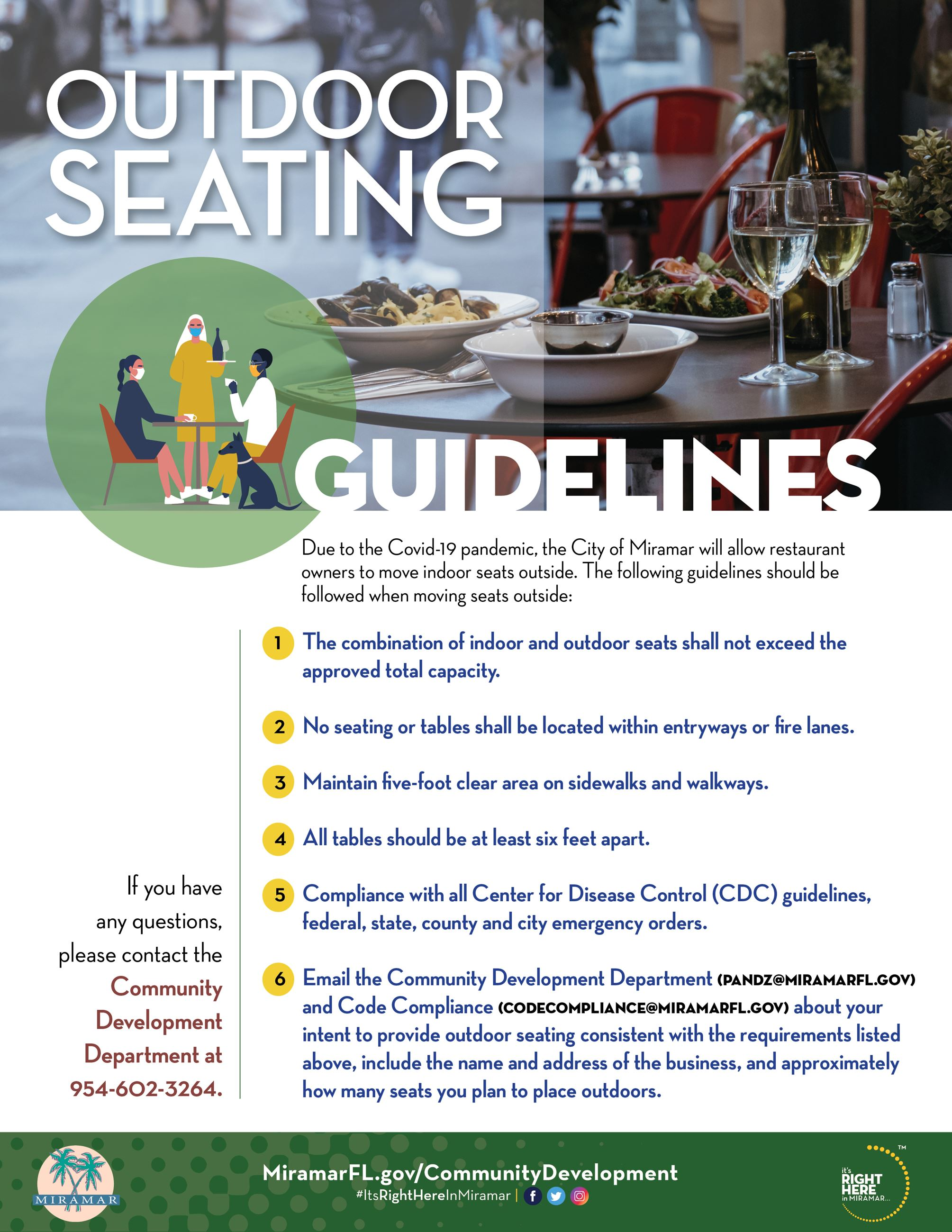 Out Door Seating Guidelines - Covid-19