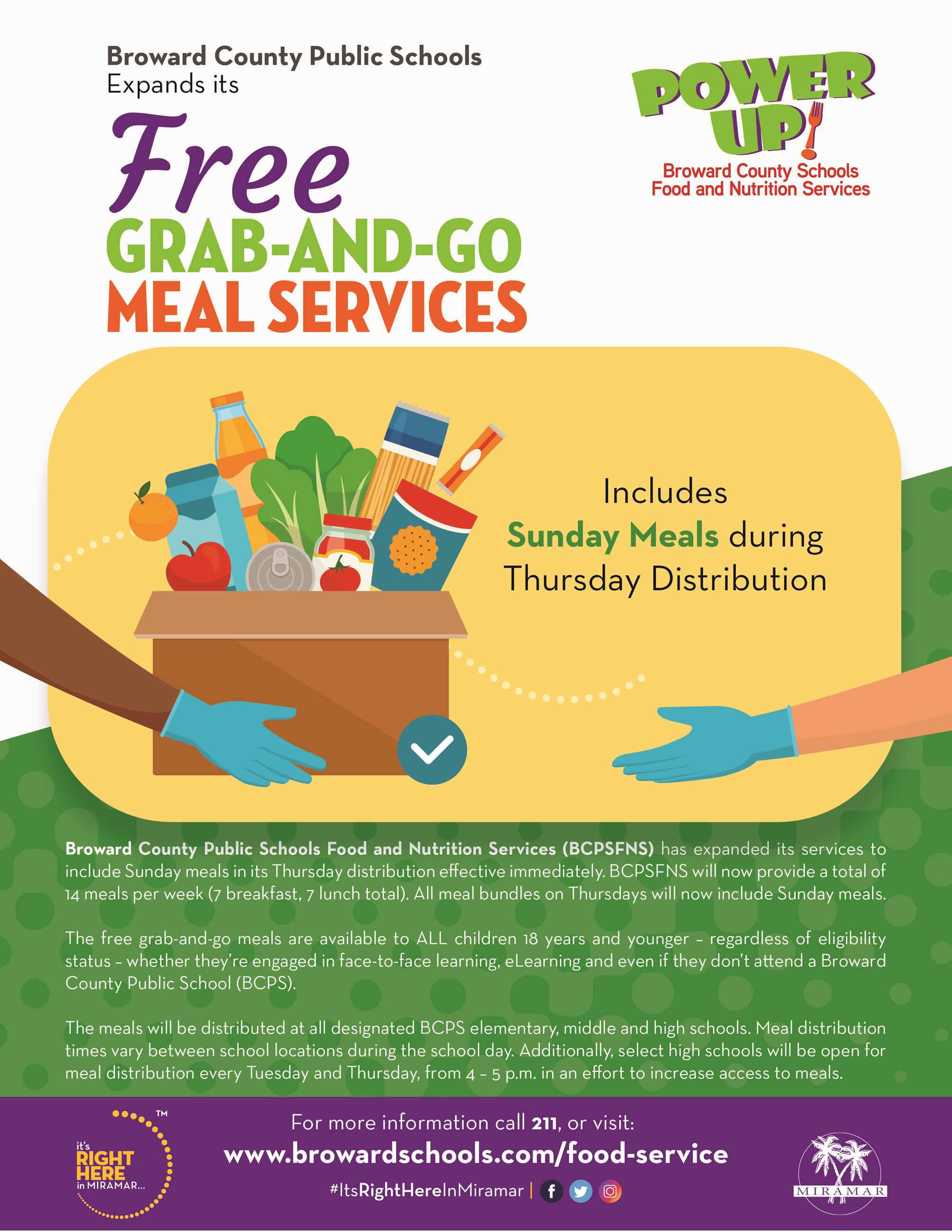 Broward Schools Grab and Go Food Distribution Program